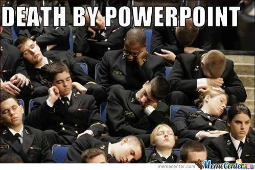 Death by PowerPoint deck