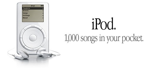 iPod. 1000 songs in your pocket.