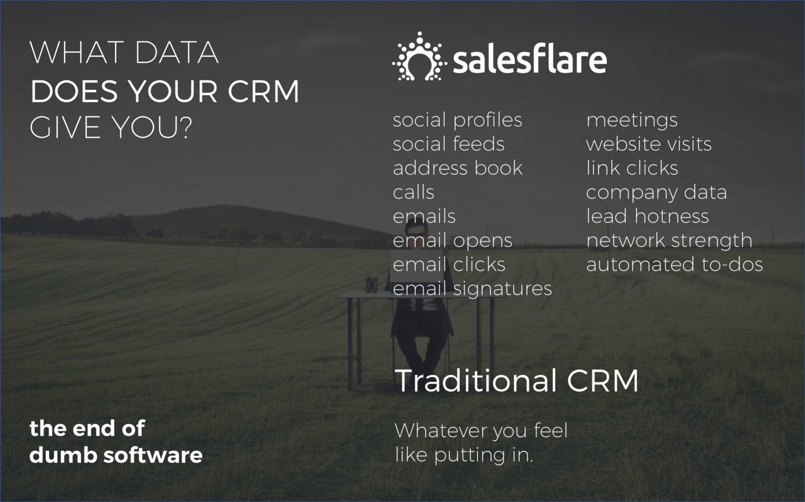 What data does your CRM give you? - Salesflare sales deck