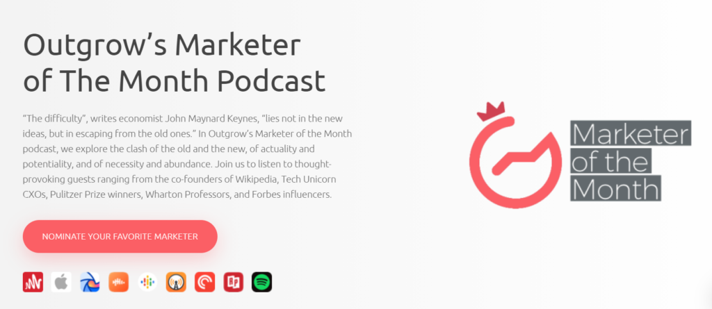 marketer of the month podcast